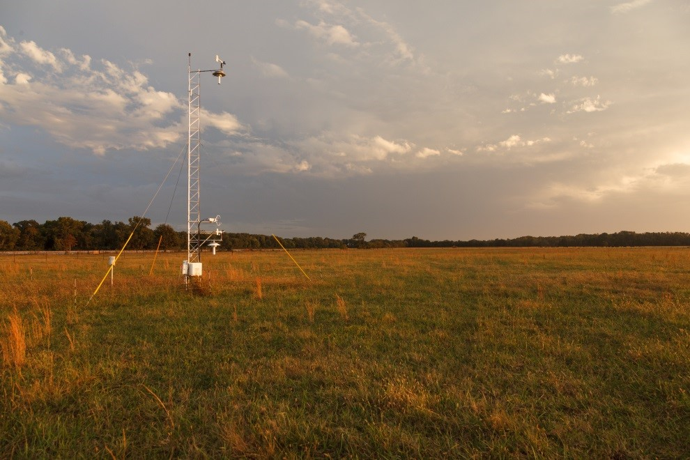 Meteorological tower near Belle Mina, Alabama