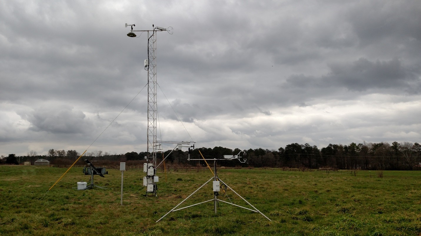 30 foot towers used in research during VORTEX-SE