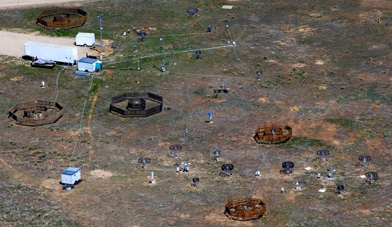 Aerial photo of Marshall Test Site, Colorado