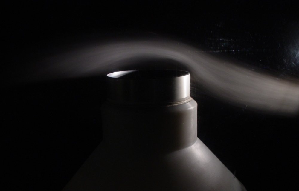 Wind tunnel test of precipitation gauge