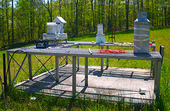 AIRMoN sensor array located at Walker Branch Watershed