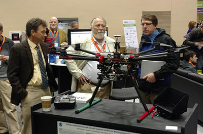 ATDD display DJI S-1000 (octocopter) at 2017 AMS Annual Meeting