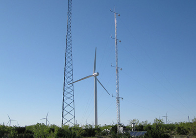 Meteorological towers and wind generator