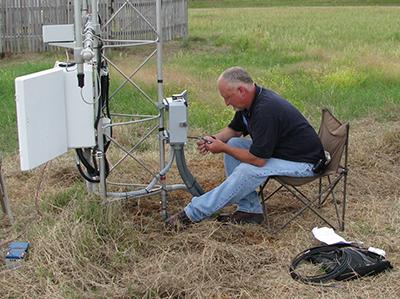 CRN Tech checks data at site