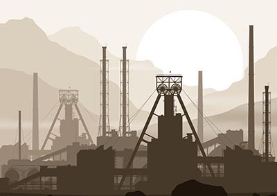 Fertilizer Factory Illustration