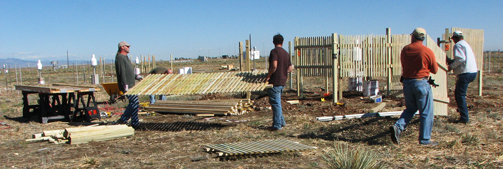 Construction of wind fence