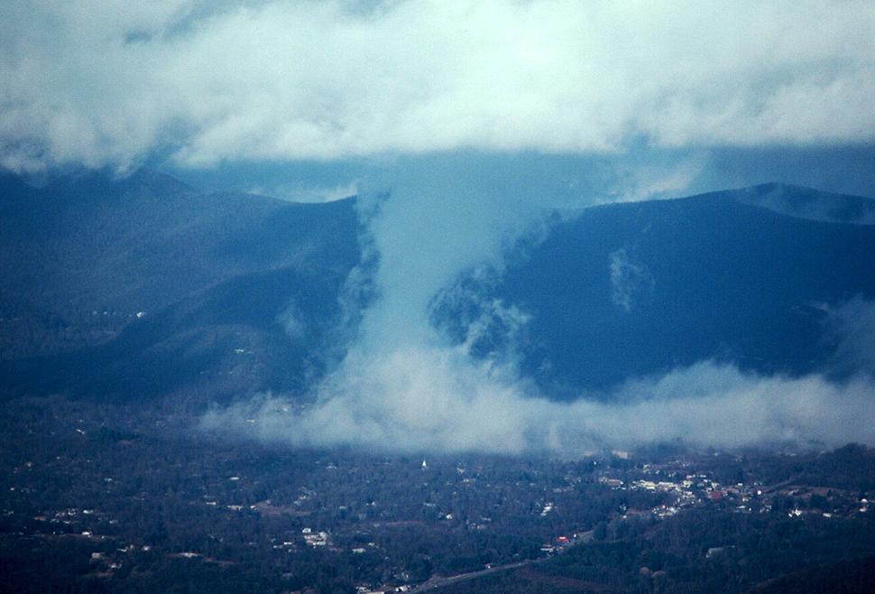 Tornado over Black Mountain, North Carolina
