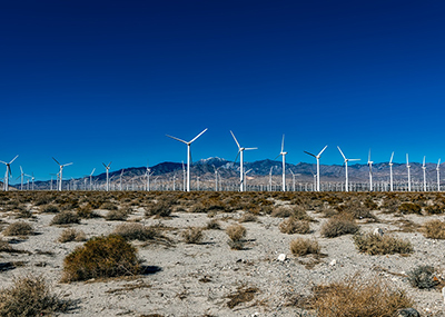 Wind farm California desert