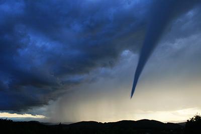 Tornado over the hills