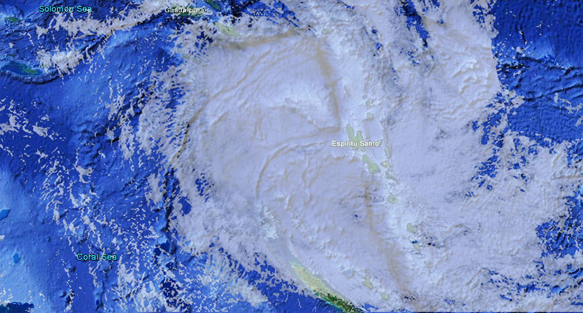 Satellite view TC Donna on May 7, 2017
