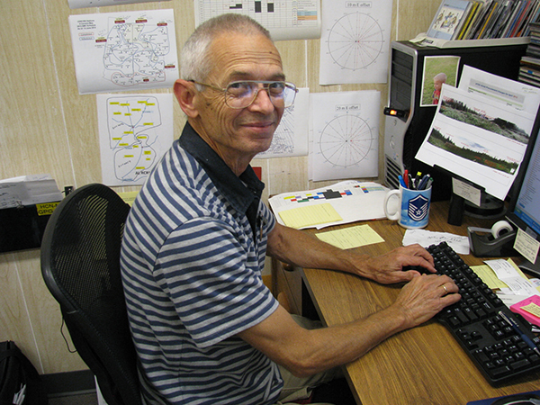 Photo of Potter at his desk