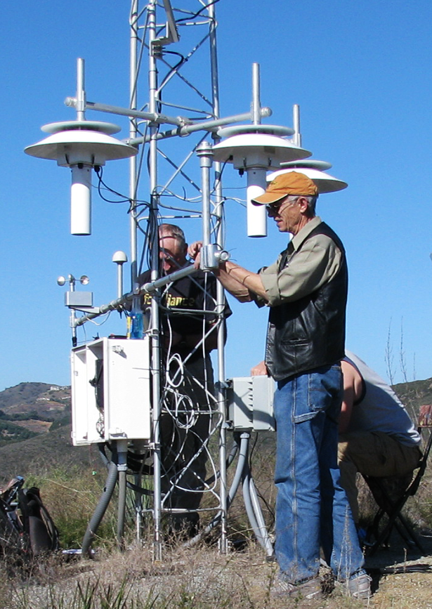 Photo of Michael Potter assisting with Annual Maintenance Visit to Fallbrook, CA site