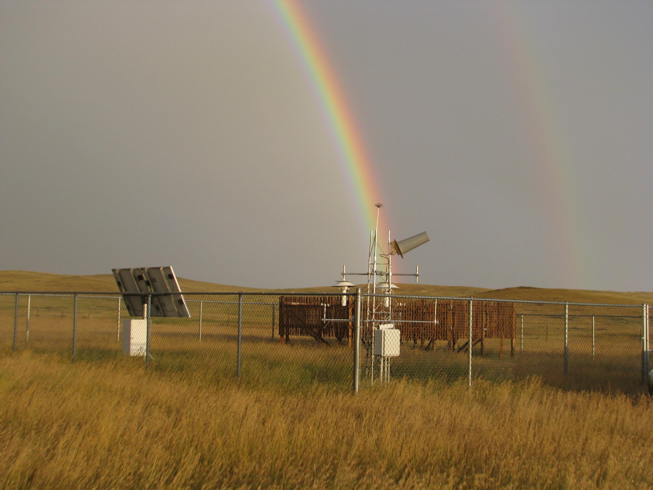 Rainbow over Buffalo, South Dakota CRN site