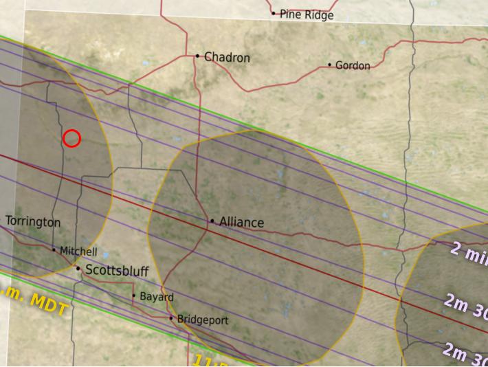 Map showing location of Harrison, Nebraska