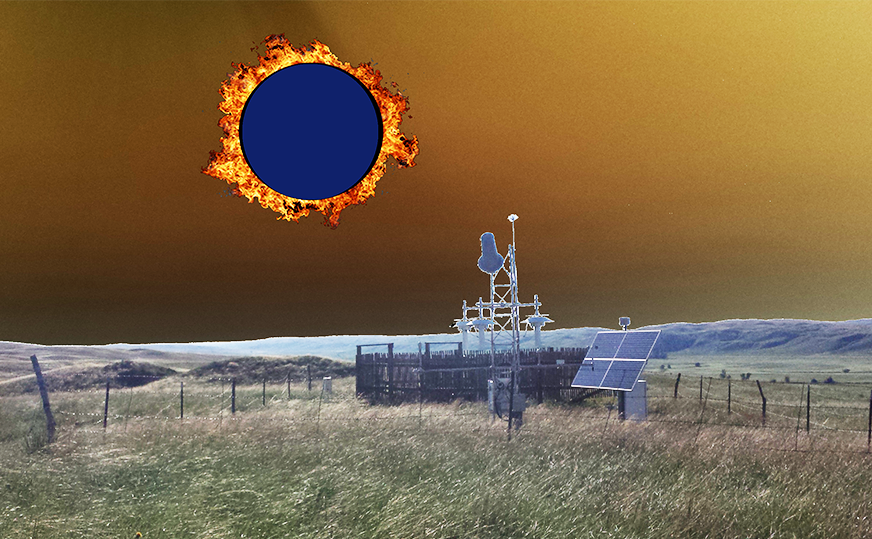 Graphic of Whitman Nebraska with Eclipse