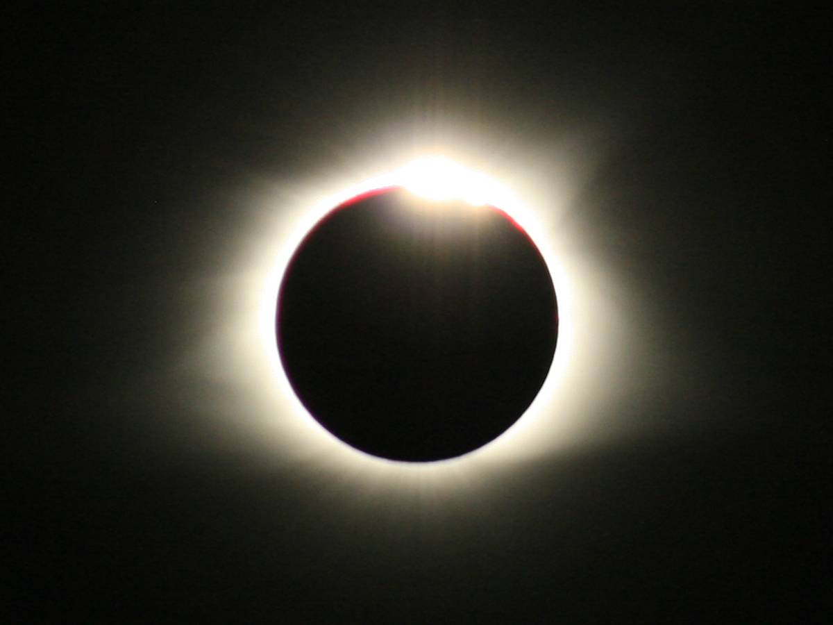 Eclipse seen from Bowling Green, KY