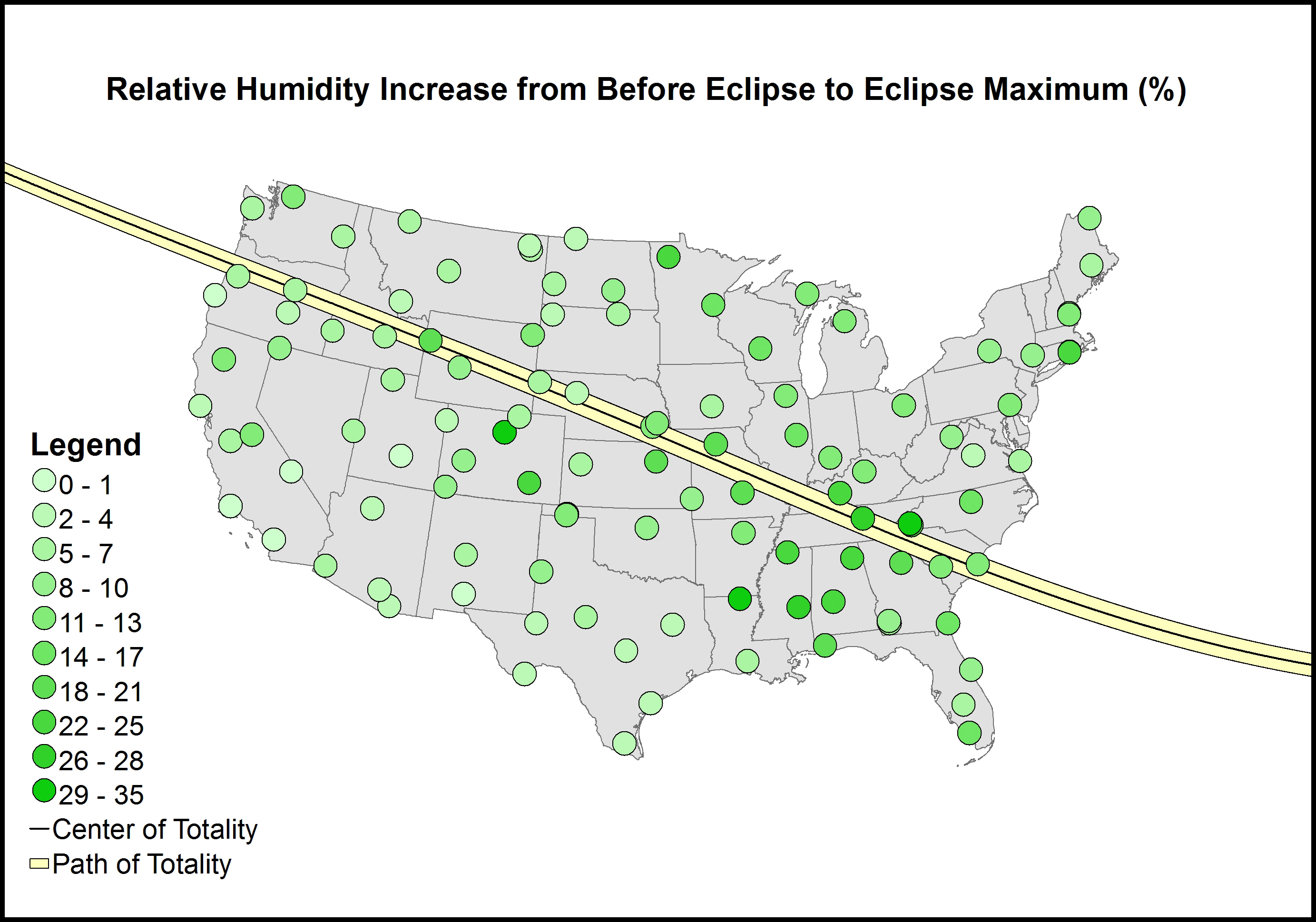 Graph of Relative Humidity Increase