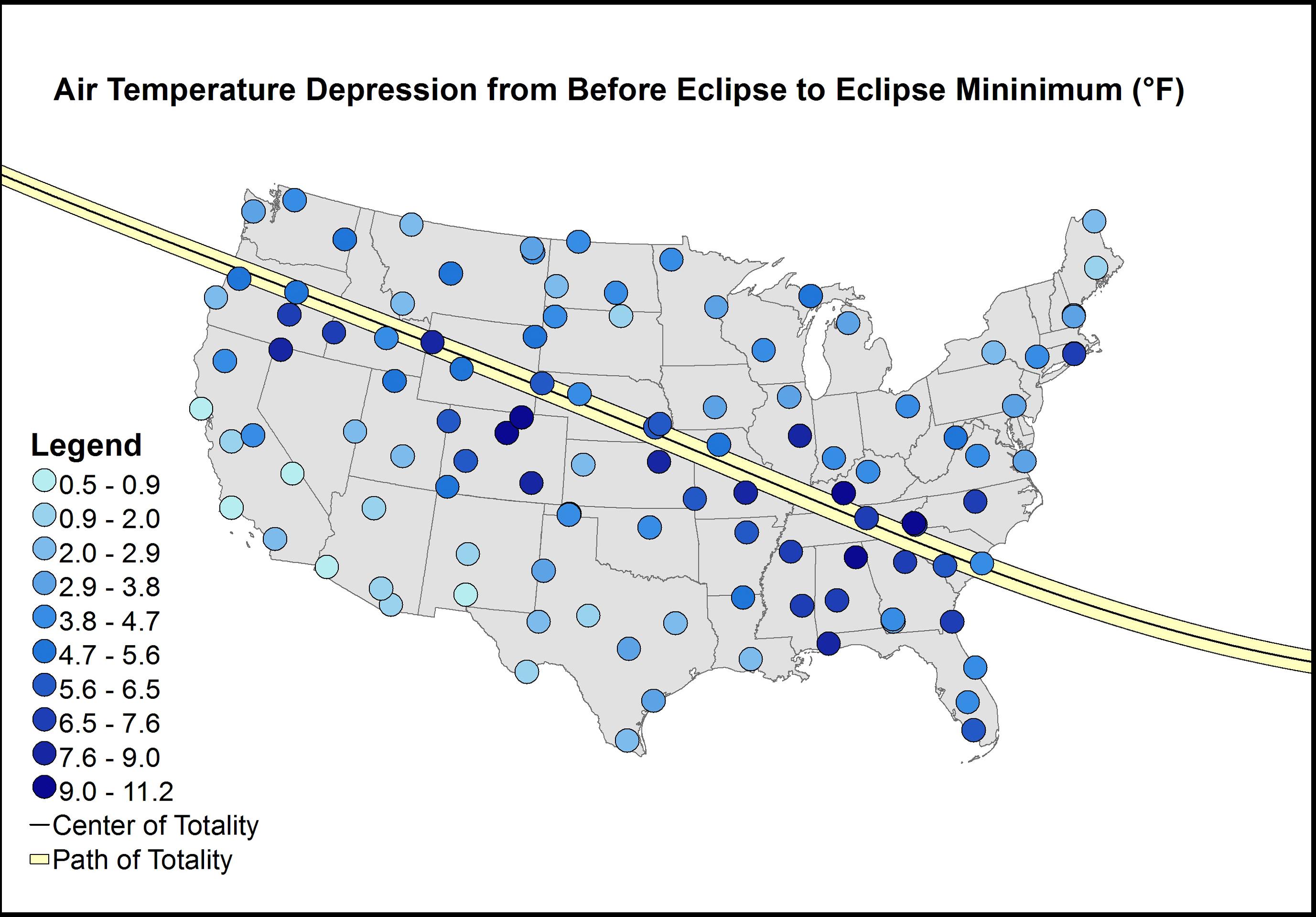 Graph of Air Temperature Depression