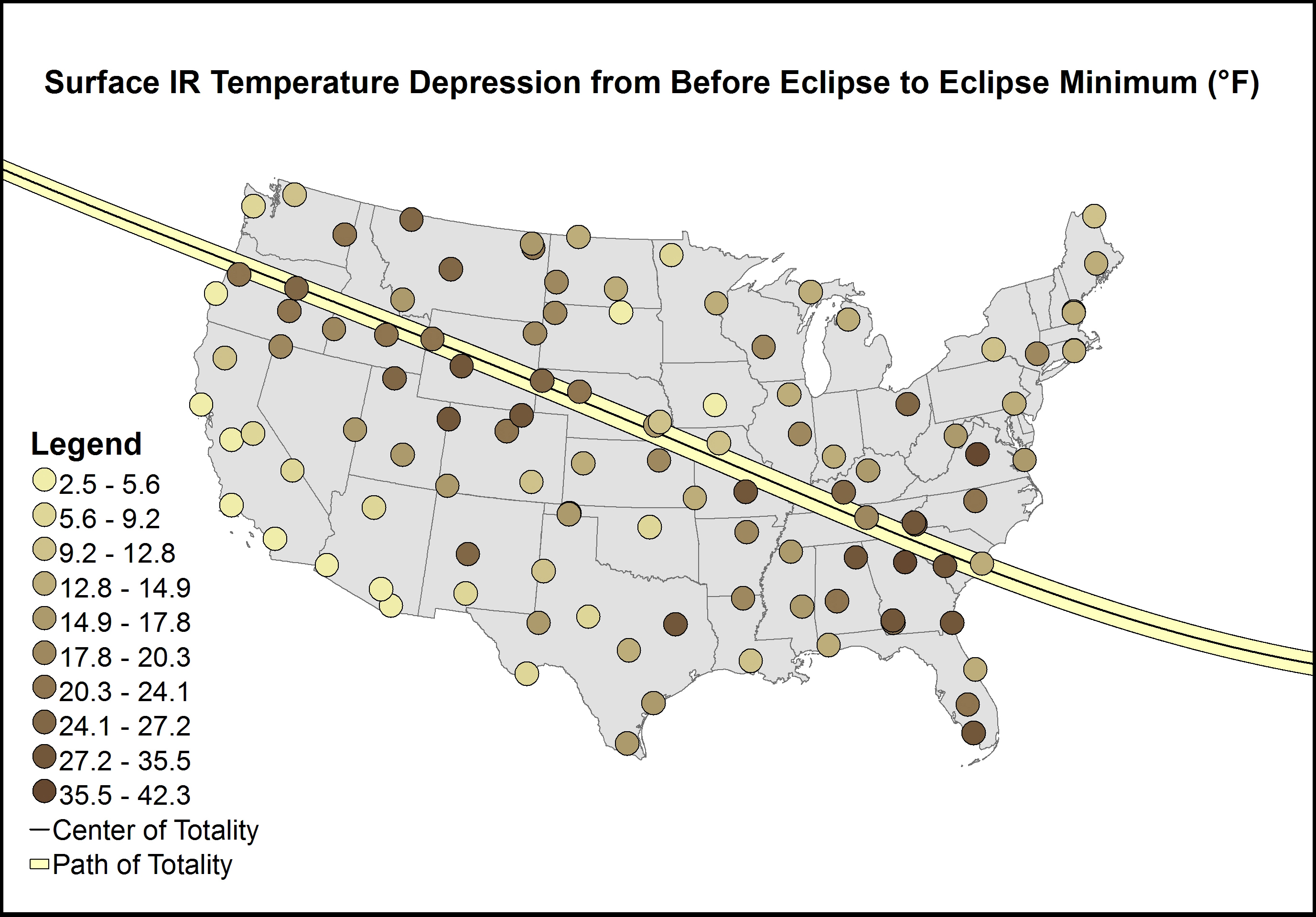 Graph of Surface IR Temperature Depression