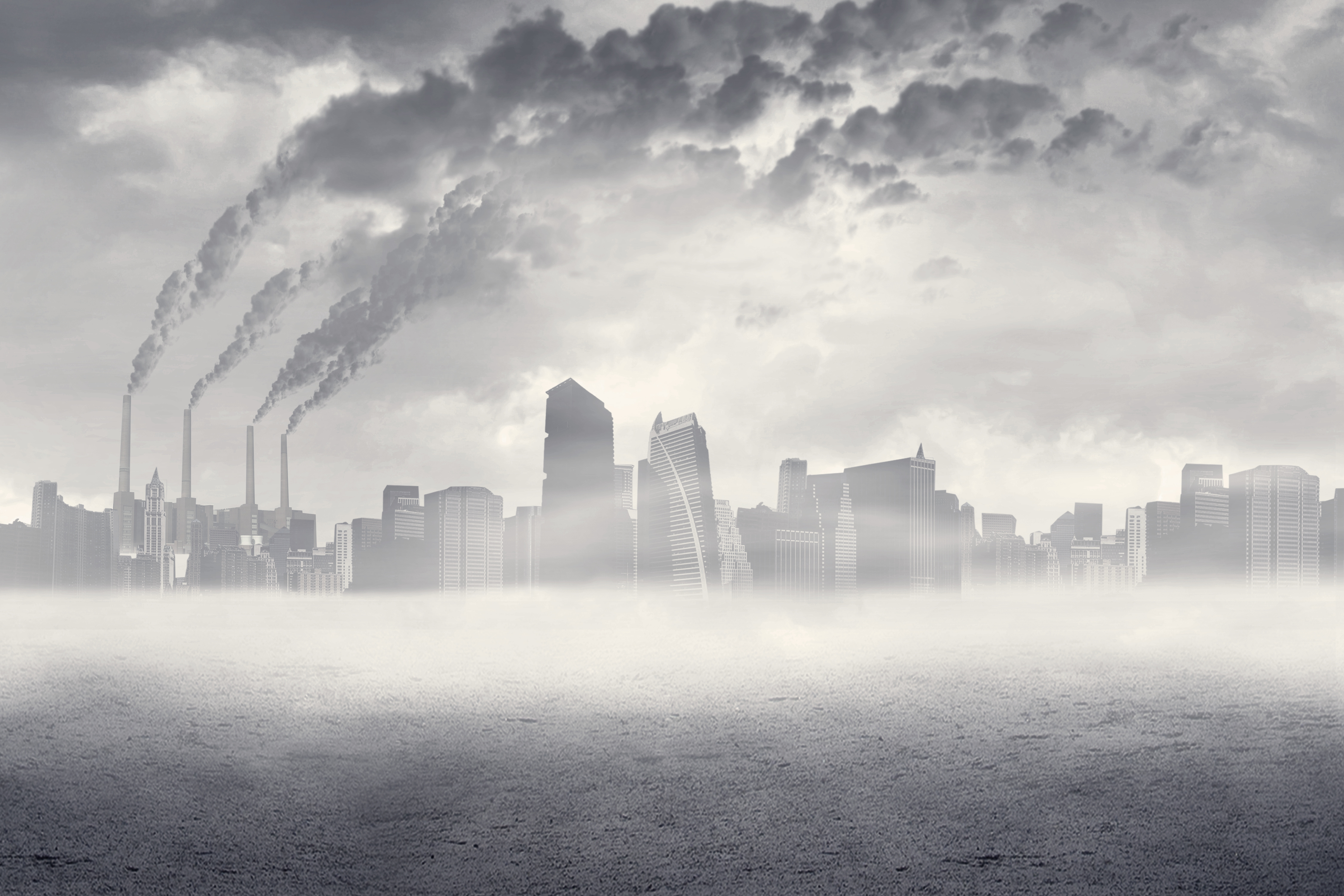 Air Pollution over a city