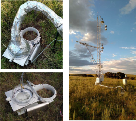 Automated soil chamber system and eddy covariance flux tower at Audubon grassland