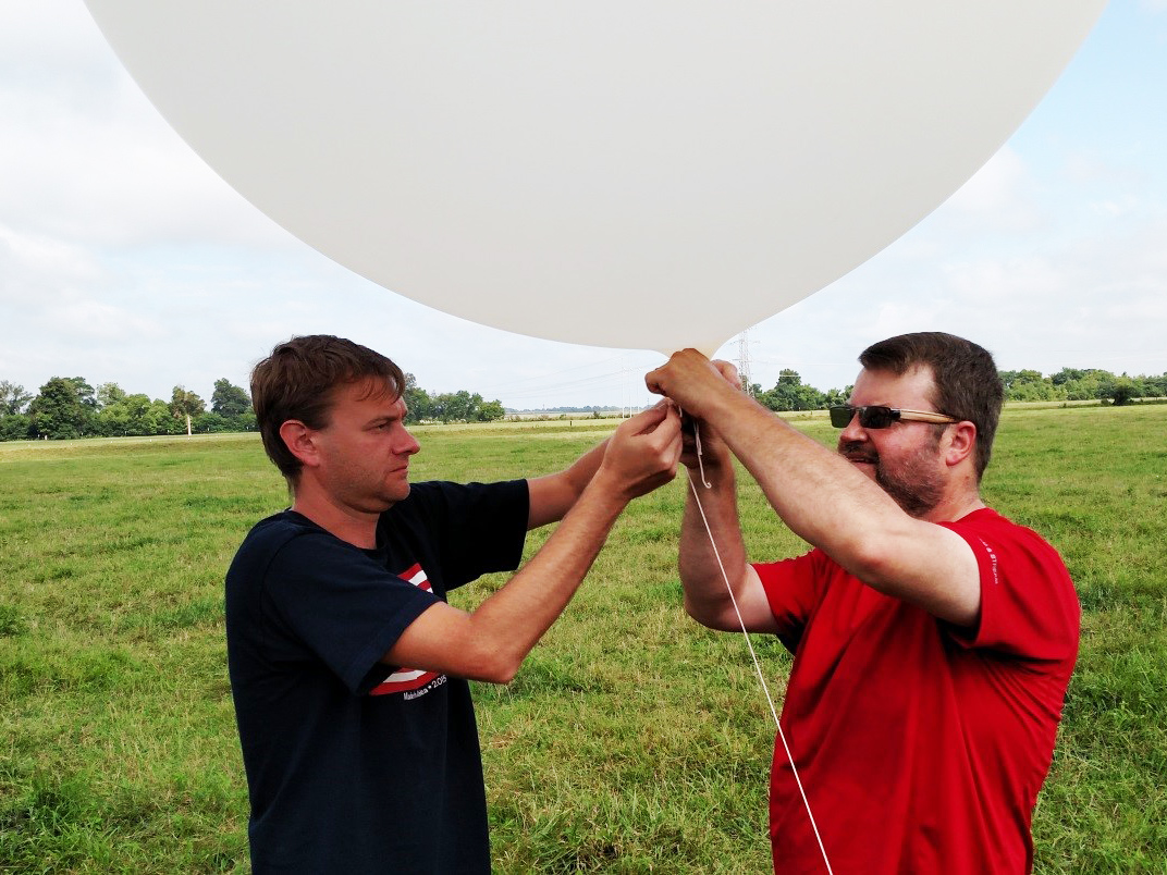 preparing for balloon launch