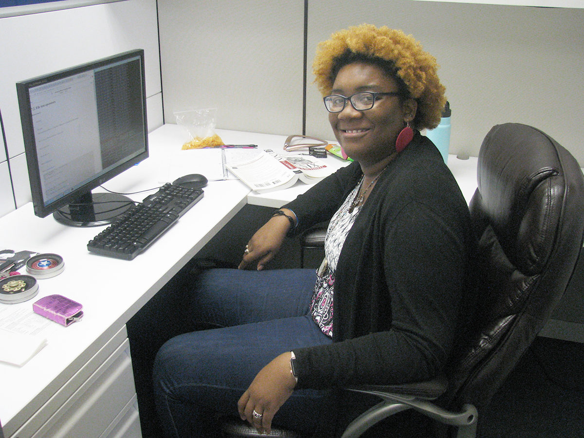Alexanderia Lacy, a PhD student in mathematics at the University of Tennessee Knoxville