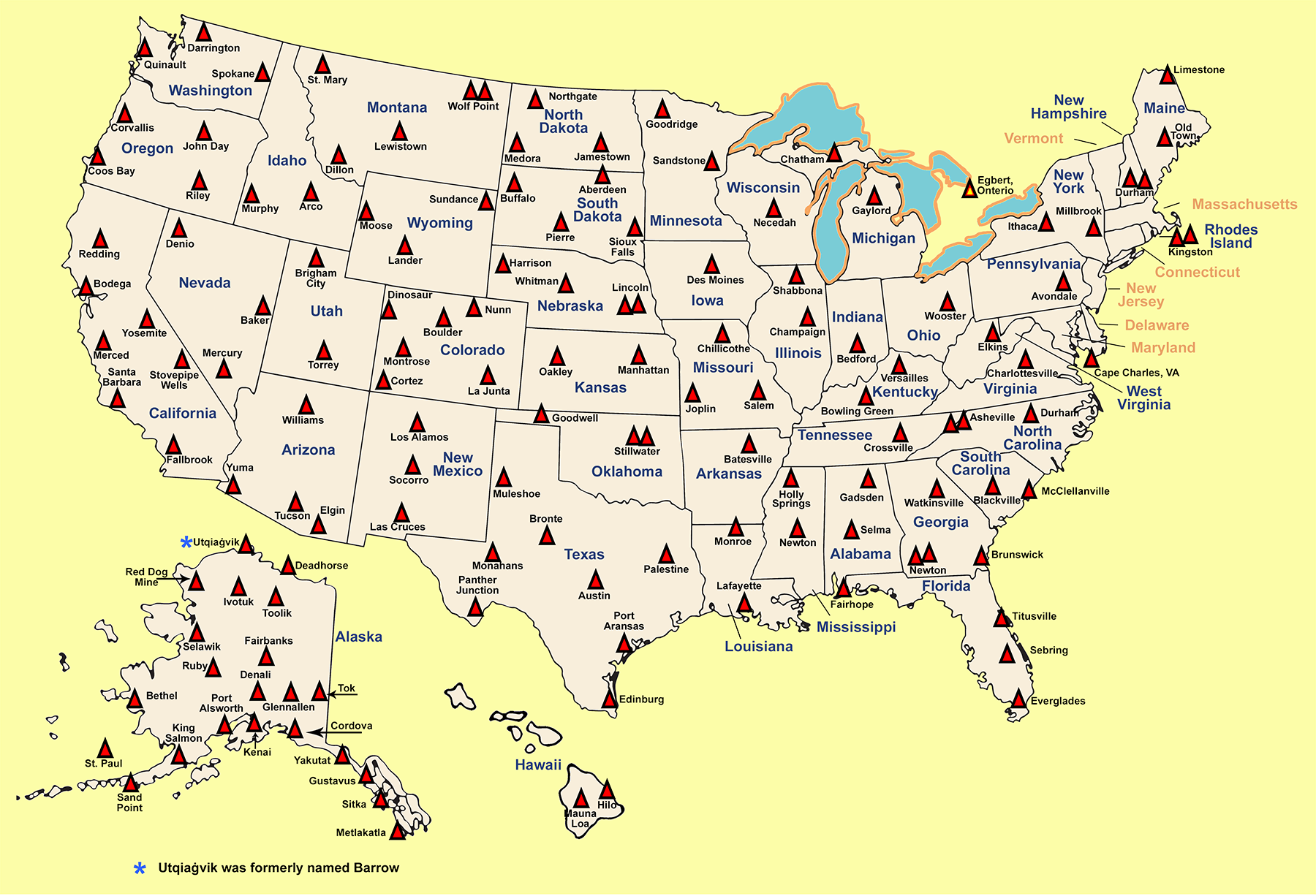 CRN Sites Map