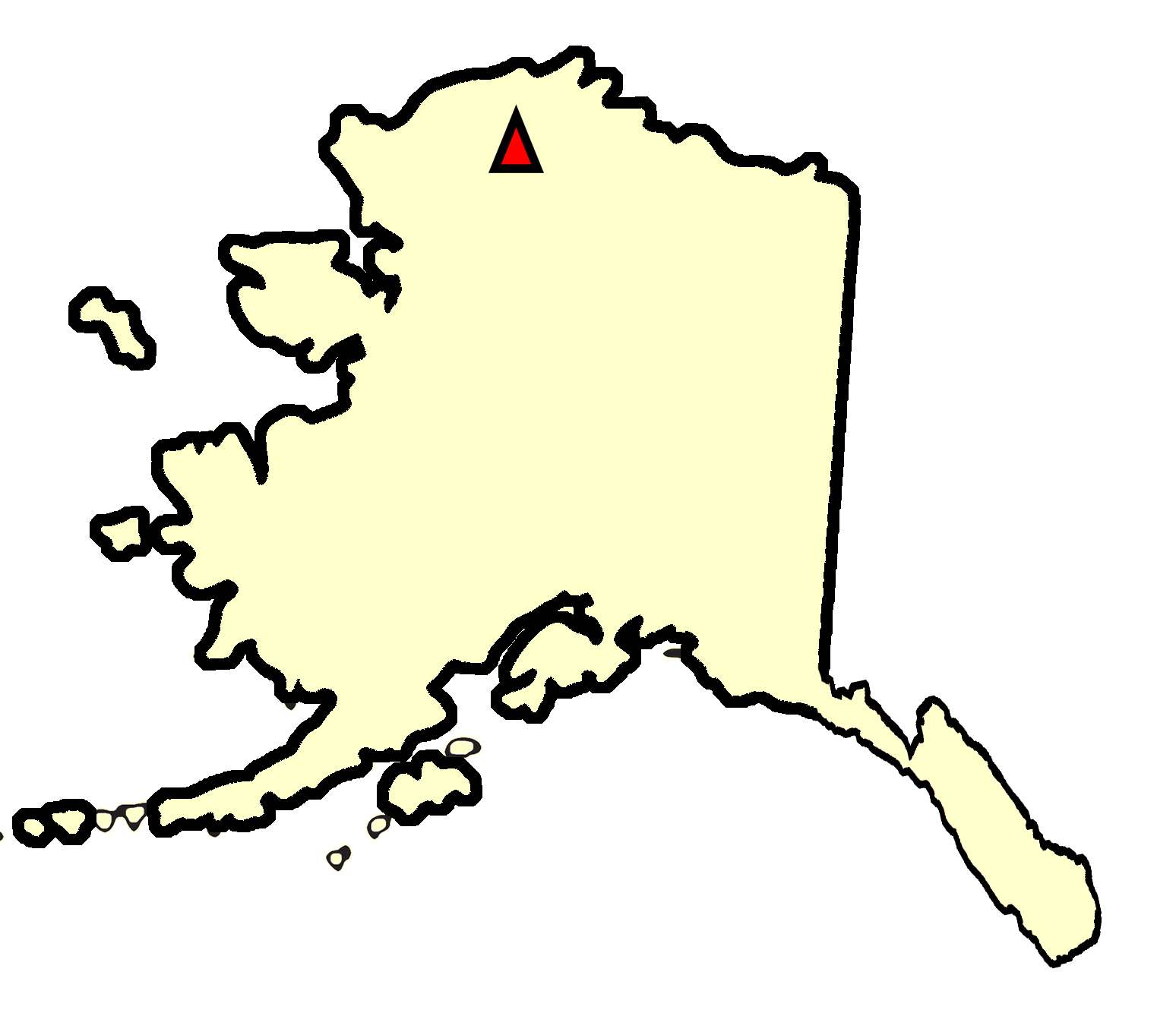 State map location for AK Ivotuk