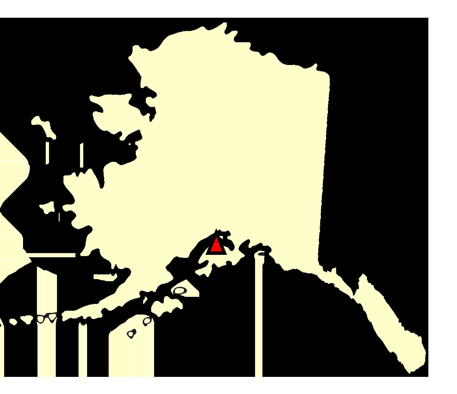 State map location for AK Kenai