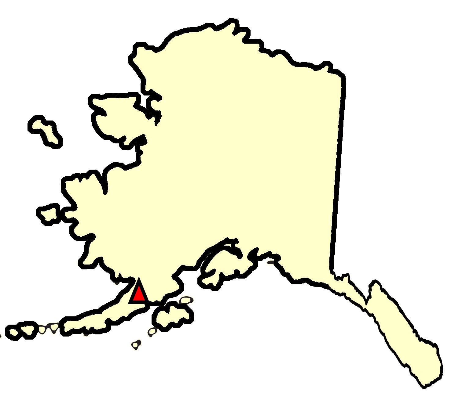 State map location for AK King Salmon