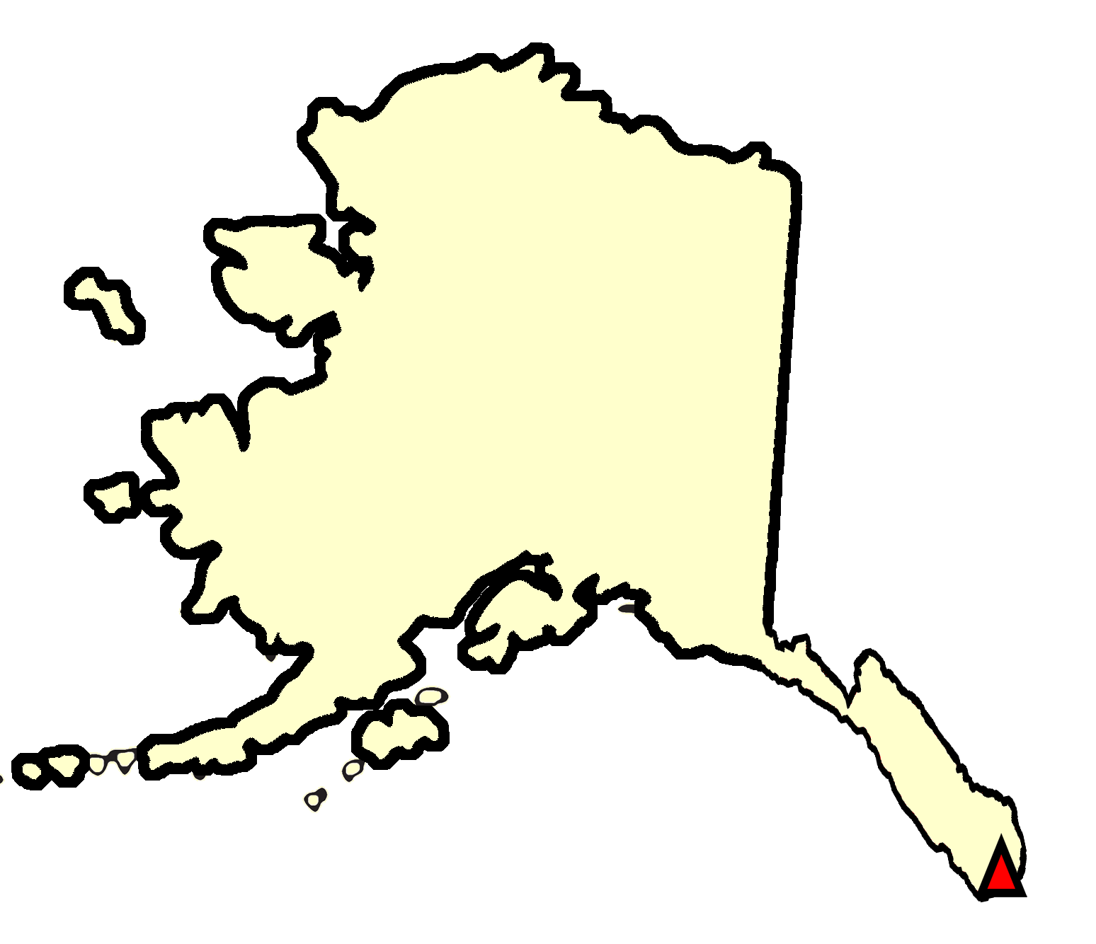 State map location for AK Metlakatla