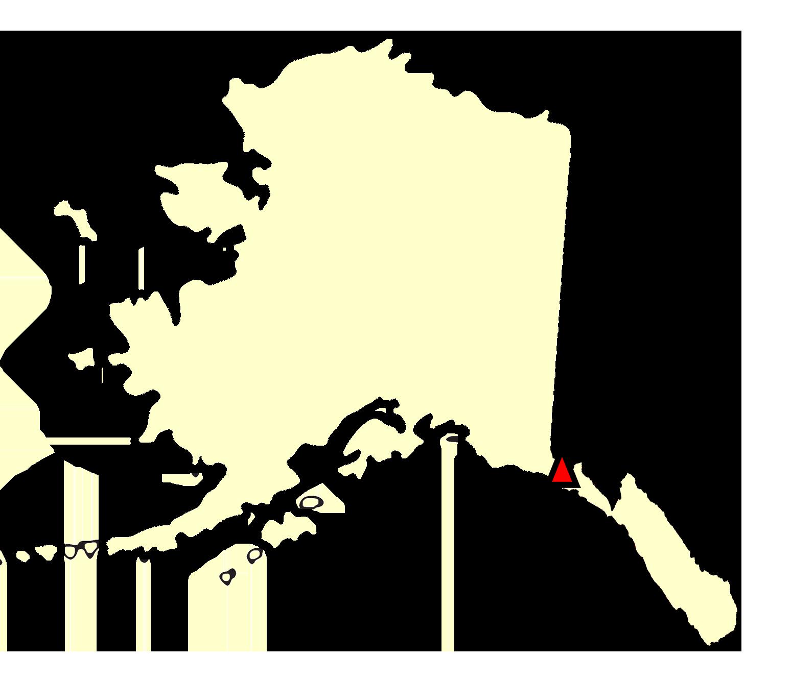 State map location for AK Yakutat