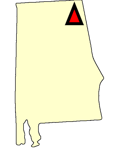State map location for AL Gadsden