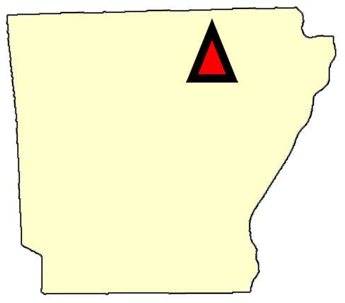 State map location for AR Batesville