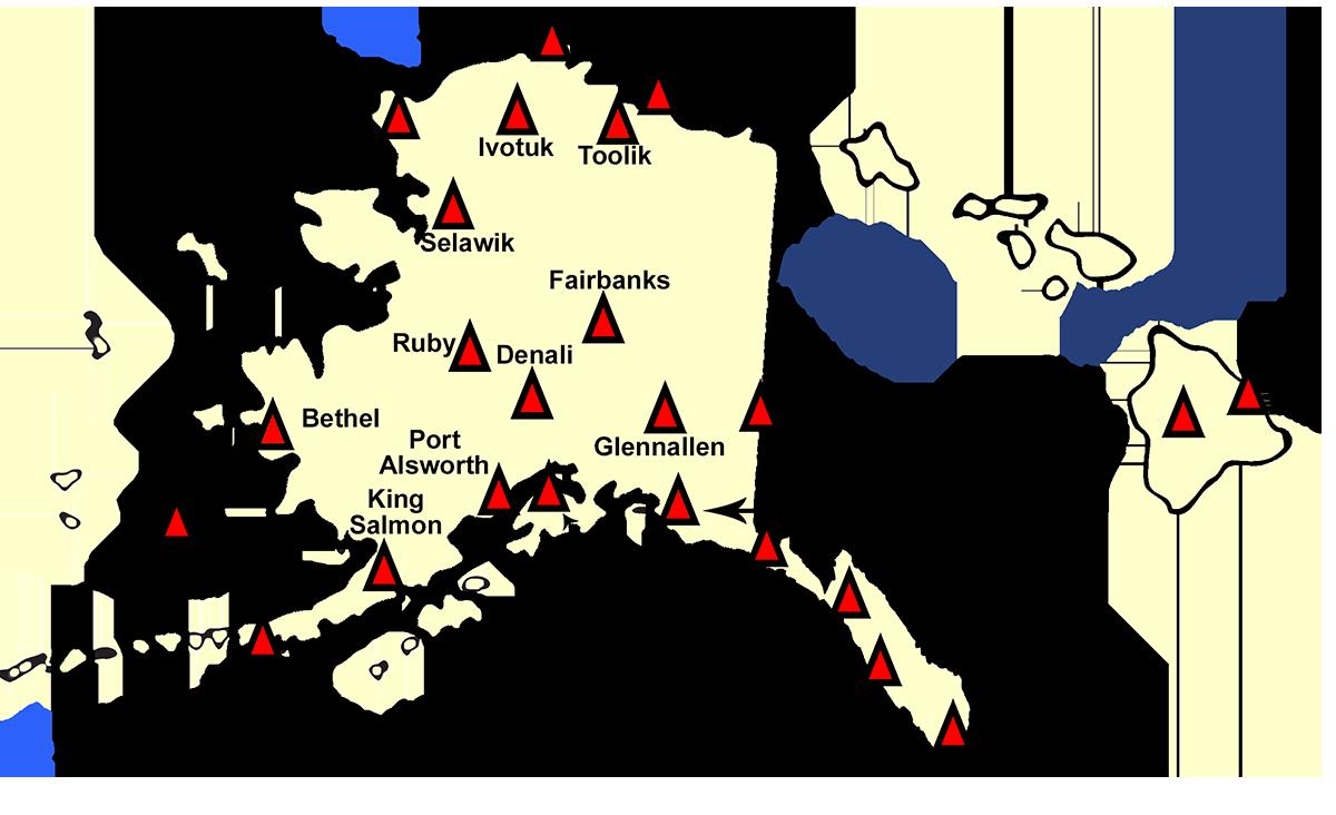 Port Alsworth Alaska Map.Alaska And Hawaii Region Map Atmospheric Turbulence Diffusion