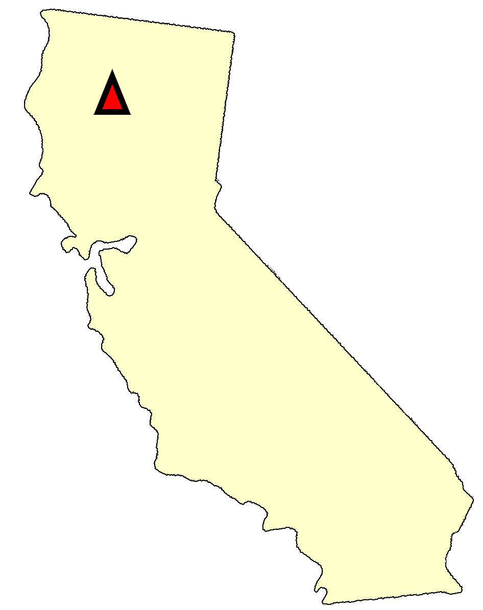 State map location for CA Redding