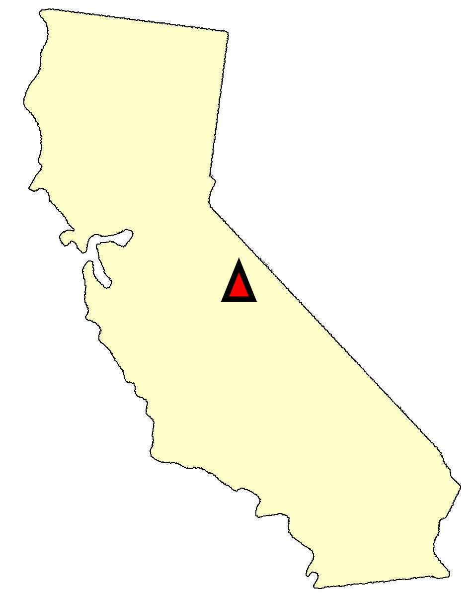 State map location for CA Yosemite Village