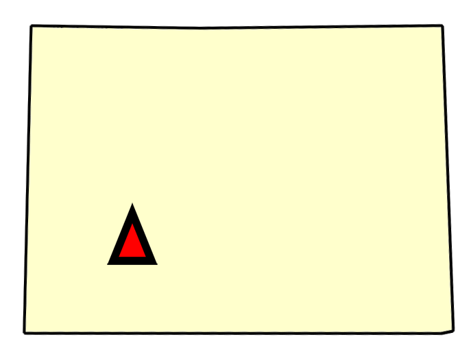 State map location for CO Montrose