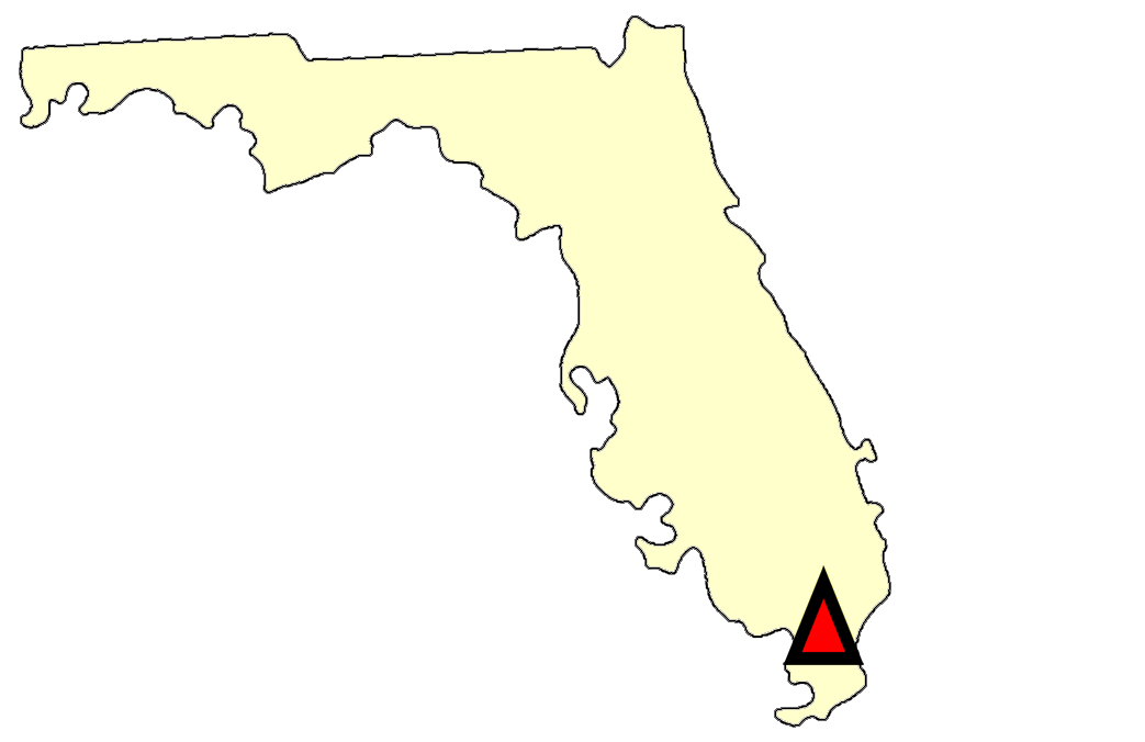 State map location for FL Everglades City