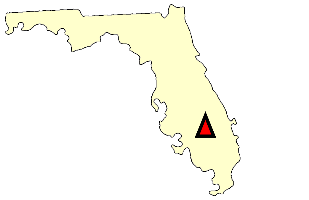State map location for FL Sebring