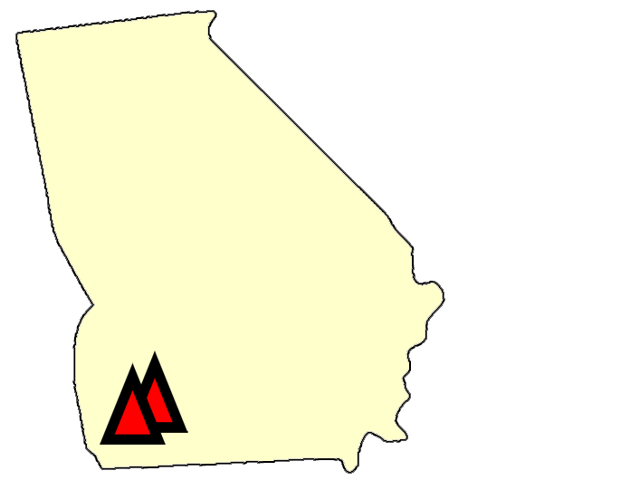 State map location for GA Newton  8
