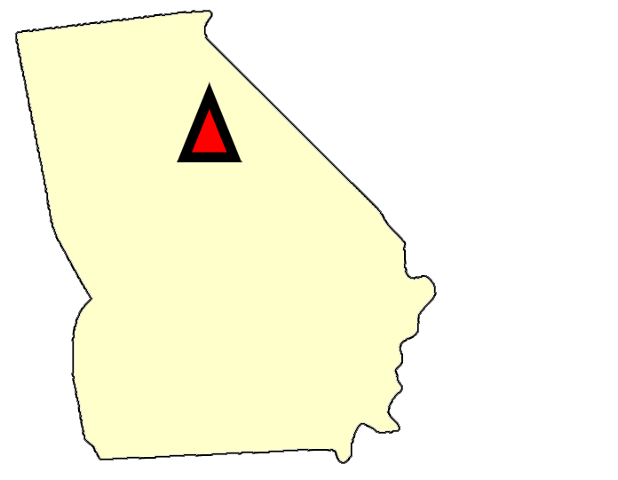 State map location for GA Watkinsville