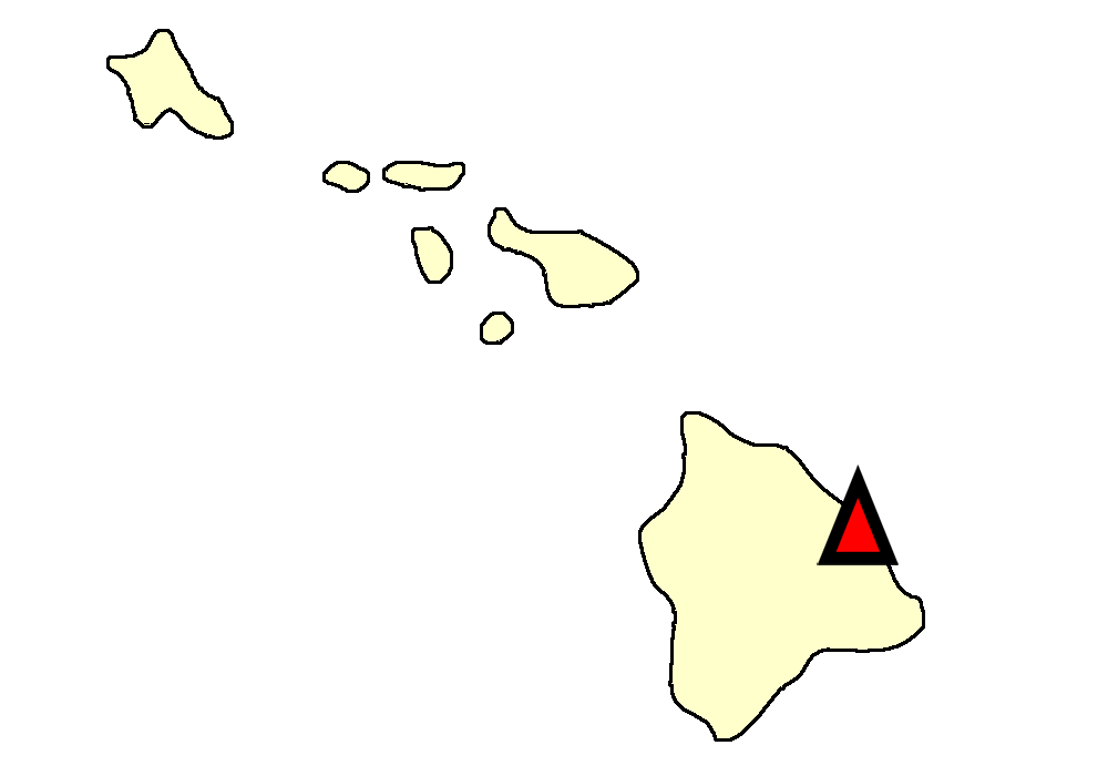 State map location for HI Hilo