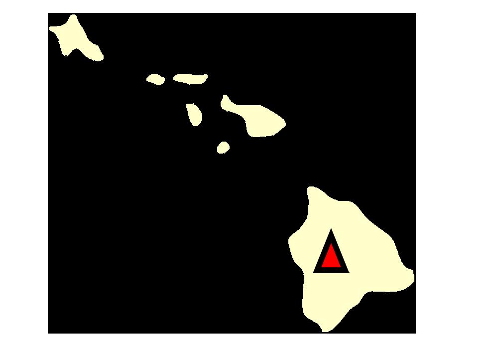 State map location for HI Mauna Loa