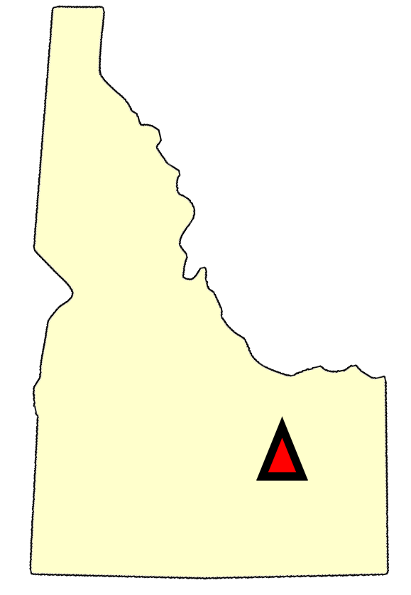 State map location for ID Arco