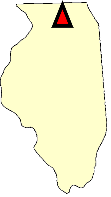 State map location for IL Shabbona