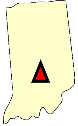State map location for IN Bedford
