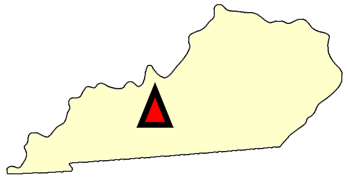 State map location for KY Bowling Green