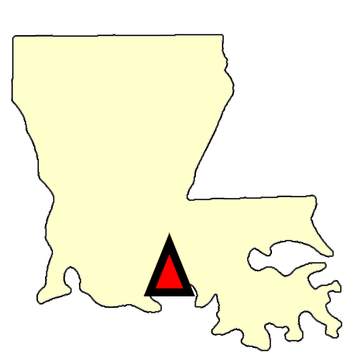 State map location for LA Lafayette